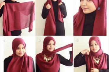 Cara Memakai Jilbab Segi Empat yang Simple dan Elegan