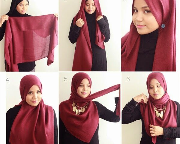 Cara Memakai Jilbab Segi Empat Yang Simple Dan Elegan Portal K9866