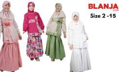 Baju Muslim Untuk Anak Usia 2-15 Tahun Perempuan