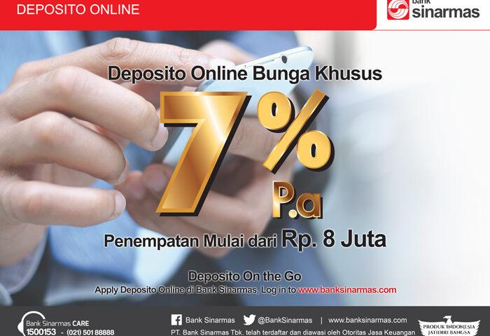 Keuntungan Menggiurkan Deposito Online Sinarmas