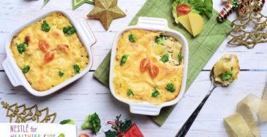 Menu Makanan Kentang Panggang keju Brokoli
