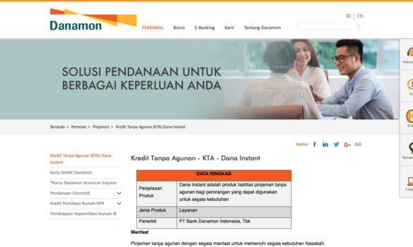 KTA Bank Danamon Pinjaman Online Yang Aman dan Terpercaya